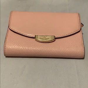 EUC Kate Spade baby pink leather wallet